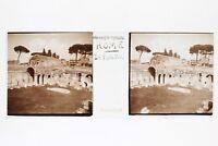 Roma Italia Placca N9 Lente Stereo 45x107mm Vintage 1938