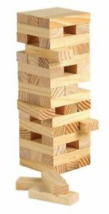 Tower Blocks Building Block Game Quality Wood Product 48 Pieces NY1049