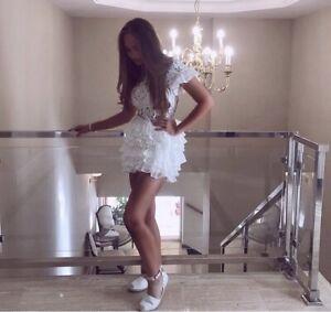 moda minx white ruffle dress