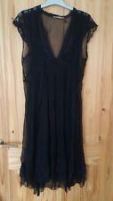 Queenie black silk dress