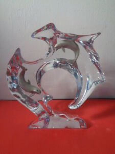 """Dan Medina Signed & Numbered Sculpture in Lucite Titled  """"Flow"""" (8 X 7.5 X 2.5"""")"""