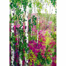 Large Size Hand Painted Birch Decorative House Banner Double-side Garden Flag