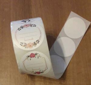 50 Etiketten Sticker Marmeladenetiketten Haushalt und mehr rund