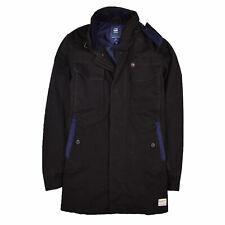 G-Star Herren Mantel Jacke Coat Jacket Gr.S Fleet Garber Trench Schwarz 88096