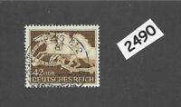 #2490 Very nice used stamp / 1942 Brown Ribbon Horse race / Third Reich / Munich