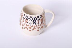 Cravings by Chrissy Teigen Coffee Mug Stoneware Cream w/ Gold Mermaid Tails