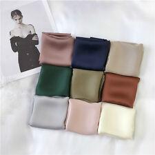 Ladies Faux Silk Square Scarf Bag Neck Wrap Basic Satin Handkerchief Hijab Shawl