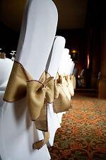 Hessian Handmade Sashes Beautiful Finish Ex Condition Vintage Wedding x 50 HIRE