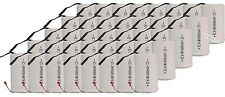 40x Sub C SubC With Tab 6000mAh 1.2V Ni-MH Rechargeable Battery White High Power