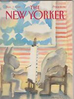 NOV 7 1988 THE NEW YORKER vintage magazine -  POLITICS - ELEPHANT - DONKEY