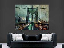 BROOKLYN BRIDGE  NEW YORK ART  LARGE WALL  POSTER PICTURE