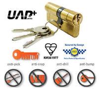UAP EURO CYLINDER SECURITY LOCK ANTI-BUMP ANTI-SNAP ANTI-PICK aluminium pvc door