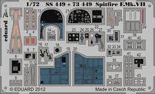 Eduard Zoom Ss449 1/72 Italeri Supermarine Spitfire F Mk.vii