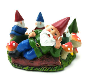 Yankee Candle Garden Gnome Jar Candle Holder Mushrooms Flowers