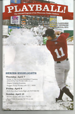 SCOOTER GANNETT COVER 2011 WISCONSIN TIMBER RATTLERS GAME PROGRAM-OPENING