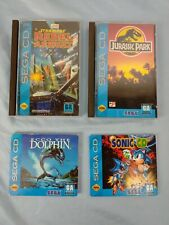 Lot of 4 - Sega CD Games - Star Wars, Jurassic Park and more - some w/ Manuals