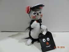 "2005 Annalee Halloween Doll 6"" Trick or Treat Kitty Cat Mask Mouse"