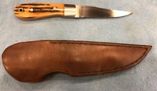 US Custom Hand Made David Wright Hunting Fighting Knife & Sheath