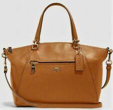 COACH F79997 Pebble Leather Prairie Satchel Handbag Crossbody IM/Lt Saddle NWT