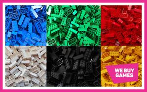 LEGO Brick Bundle - 25 Pieces - Size 2x4  - Choose Your Colour