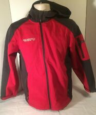 Free Country FCXTreme Boy's Softshell Hooded Jacket  Red/ Charcoal Size Large