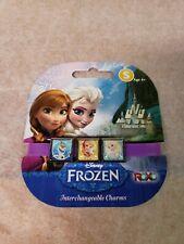 Disney ROXO Frozen 3 Charms Purple Bracelet Anna Olaf Elsa!!