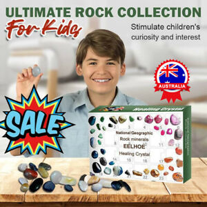 Healing Crystal Advent Calendar with Rock Pebbles Christmas Countdown NEW AU