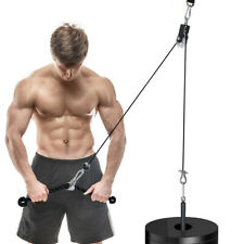 Fitness Pulley Cable Gym DIY Workout Equipment Machine System Home Lifting Tool