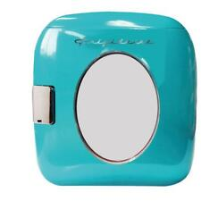 Mini Refrigerator Turquoise Retro Beverage Cooler 12-Can Home Office Traveling