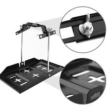 Universal Battery Tray + Adjustable Hold Down Clamp Kit 135-190mm Car Boat