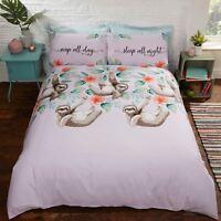 Faultier Einzelbett Bettbezug und Kissenbezug Set Kinder Bettwäsche Lila
