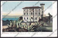 BRESCIA TOSCOLANO MADERNO 11 VILLA ZANARDELLI  LAGO di GARDA Cartolina VIAG 1905
