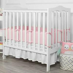Till You Baby Breathable Mini Crib Bumper Pad Bedding Infant Pink 8x122