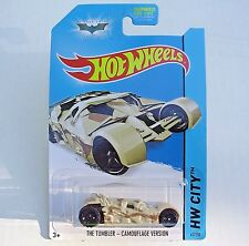 2014 Hot Wheels 63/250. Batmobile Tumbler Camouflage Version. New in Package!
