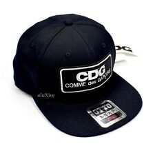 NWT Comme des Garcons CDG JAPAN Logo Patch Black Snapback Hat Cap Mens AUTHENTIC