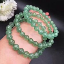 AAA Natural Green Strawberry Rutilated Quartz Crystal Beads Bracelet 8.5-8mm