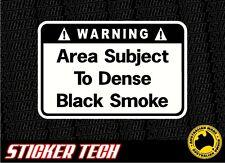 WARNING DENSE BLACK SMOKE TURBO DIESEL STICKER DECAL FOR 4WD 4X4 DIESEL ENGINE