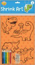 Shrink Art Design Sheets (Makes 4) Dinosaur (Product Code: 136904)