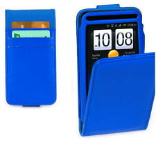 Premium Blue Wallet Style Leather Case Cover for HTC Velocity 4G +Screen Guard