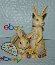 "New Jim Shore Heartwood Creek 4056941 Honey Bunnies Easter Figurine Couple 6.2""H"