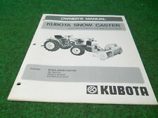 Kubota B748a Rotary Snow Plow Blower Owners Manual Fits B6100 B7100