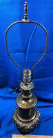 Mid Century Regency Heavy Brass Key Lamp Electric Lantern Westwood VTG  27x6