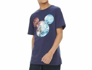 NEW DISNEY MICKEY MOUSE FIREWORKS FAMILY FUN SHIRT YOUTH BOYS SZ S, M