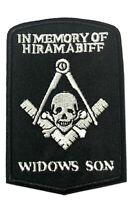 Hiram Abiff Mason Compass Embroidered Patch Iron/Sew-On Applique Freemasonry