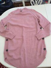 Next Ladies Pink Tunic/dress Jumper Size M