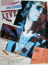 BEATLES JOHN LENNON LIVE IN NY CITY 1986 VINTAGE MUSIC VIDEO STORE PROMO POSTER