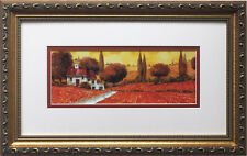 "Guido Borelli ""Fuoco Di Toscana"" New CUSTOM FRAMED Hand Signed Lithograph ITALY"