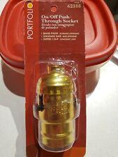 New listing Brass Finish ~ Push Thru ~ On/Off Switch ~ Lamp Socket ~ Ul Listed