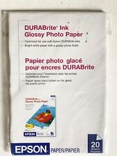 Epson Durabrite Ink Glossy Photo Paper 4x6 20 Sheet Pack New Sealed
