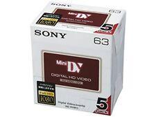 Genuine Camcorder Tapes Sony Mini DV 5DVM63HD Minidv DVC DVI Made in Japan